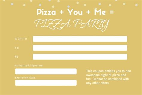 28 pizza gift certificate template pizza pizzeria