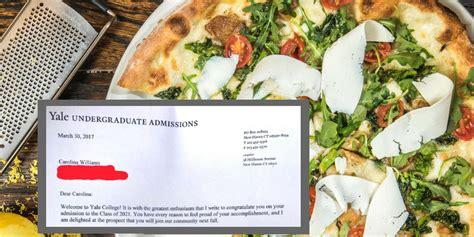 Bewerbung Yale Sch 252 Lerin Bewirbt Sich Mit Einem Essay 252 Ber Pizza An Einer Elite Uni Und Wird Angenommen