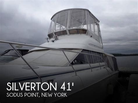 convertible fishing boat brands silverton 41 convertible for sale in sodus point ny for