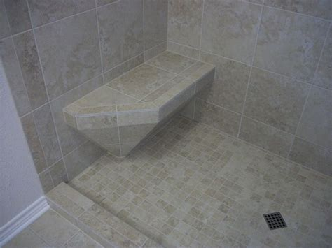 tiled shower with bench tile shower with accent diamond n koehn tile el co tx