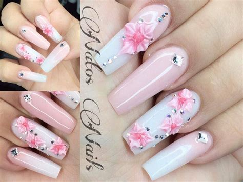imagenes de uñas acrilicas en alto relieve u 241 as acrilicas baby boomer natos nails youtube