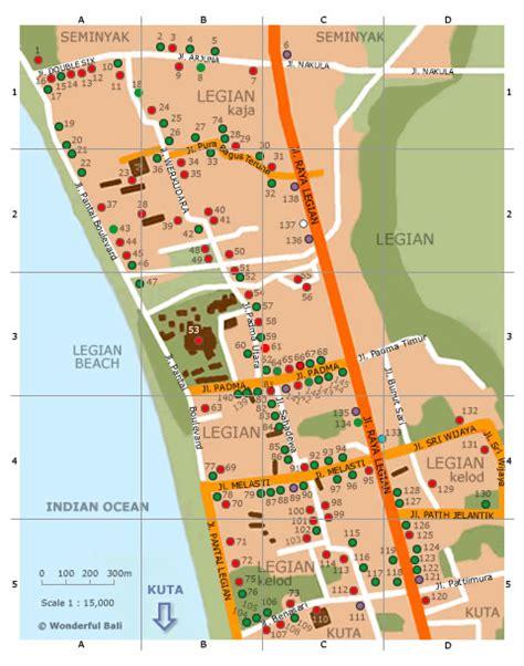 printable road map of bali legian map wonderful bali