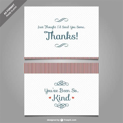 Thank You Note Illustrator Template Thank You Card Template Vector Vector Free