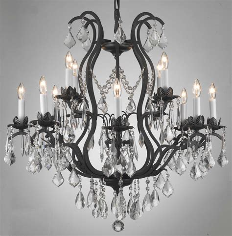 Versailles Collection Wrought Iron Chandelier F83 3034 8 4 Gallery Wrought With Crystal Wrought Iron