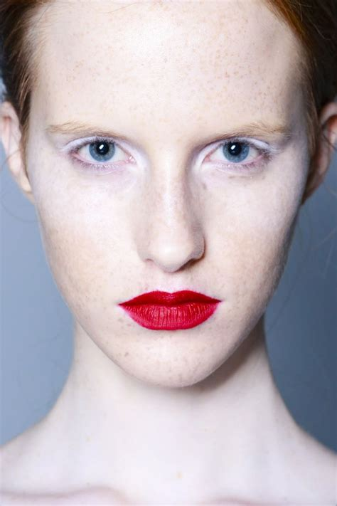 8 Perks Of Pale Skin by S S 2014 Altuzarra White Eye Shadow Contrasted With