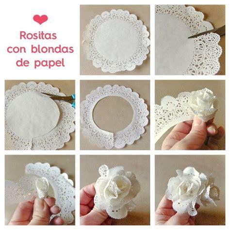 invitaciones con blondas de papel piku flores con blondas de papel todo bonito