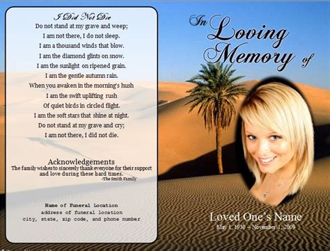 funeral cards template free the world s catalog of ideas