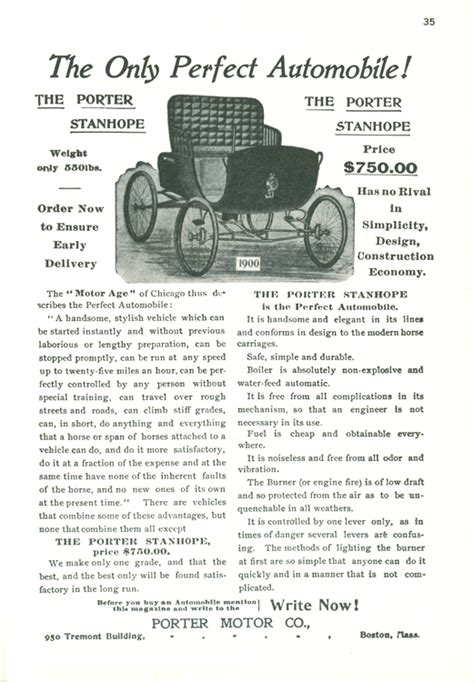 porter motor company advertisement clymer