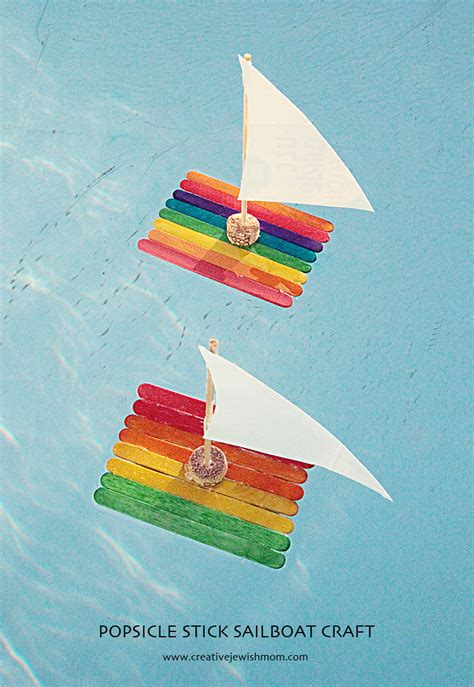 kid craft boats sail boat crafts