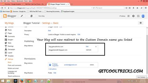blogger custom domain running your blogger blog on a custom domain get cool tricks