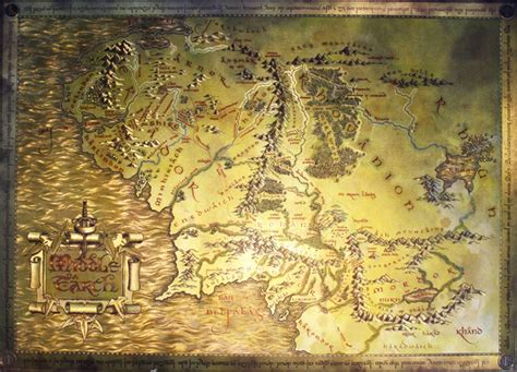 map of middle earth print the lord of the rings the hobbit metallic map of middle