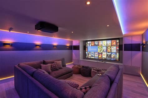 the living room theater modern house family cinema room