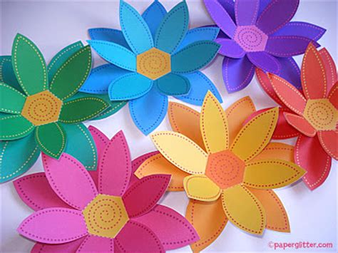 Paper Craft Flowers - paper glitter downloads printables paper crafts