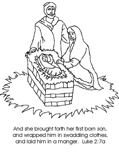 jesus birth coloring page coloring home
