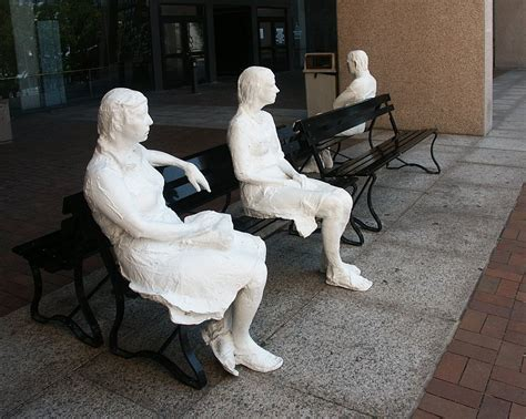 three figures and four benches images of george segal s three figures on four benches at