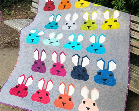Rabbit Quilt Pattern by Sewing Pattern Elizabeth Hartman Bunny Quilt