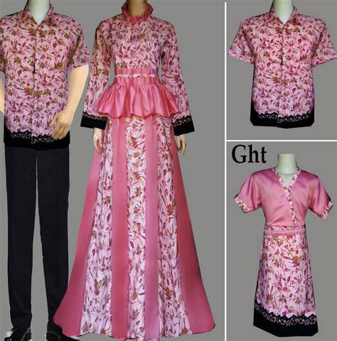 Baju Gamis Batik Keluarga jual model baju batik keluarga muslim batik sarimbit v3