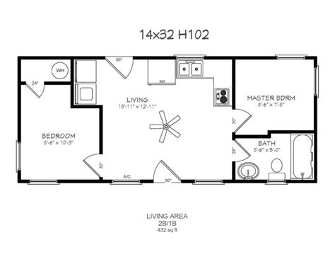 Floor Plans For A 12 X 32 House Two Bedroom Cabin Plans 12 X 32 Hurry Offer Ends January