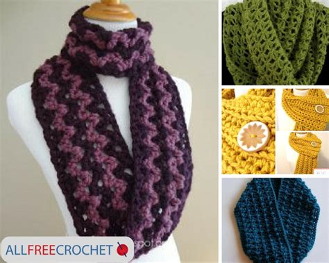 Lyna Scarf 19 and easy crochet scarves allfreecrochet