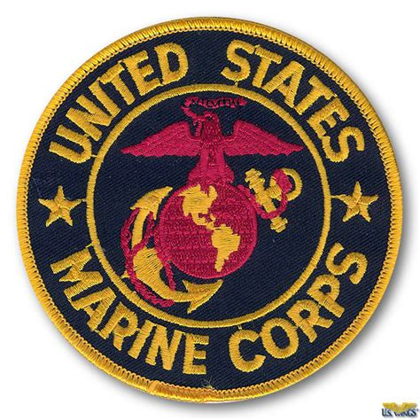 Black Tag White Patch Army Ready Stock us marine corps patch
