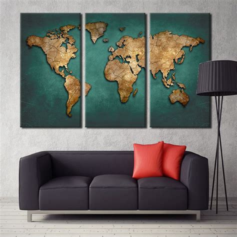world map home decor world map canvas wall painting home decor vintage large