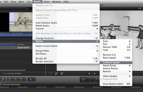 final cut pro slow motion slow motion dans final cut pro x en se conformant