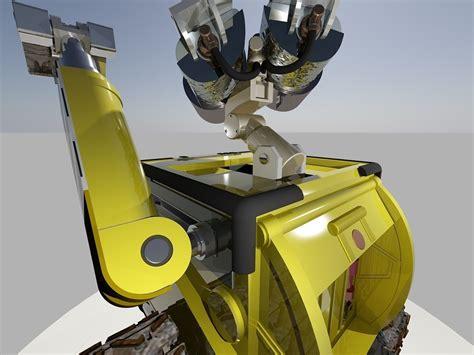 robotic wall robot wall e disney free 3d model dwg cgtrader com
