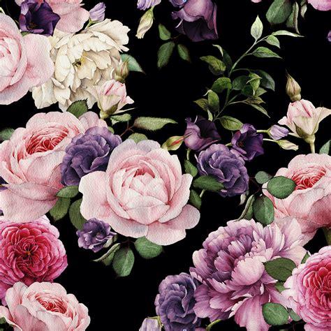wallpaper flower vintage black vintage floral wallpaper dark shop project nursery