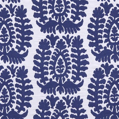 Blue White Upholstery Fabric by Cobalt Blue Ikat Upholstery Fabric Modern Blue White Home