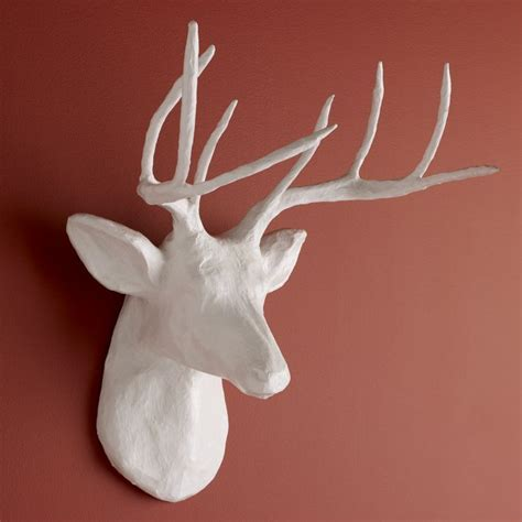 How To Make A Paper Mache Stag - papier mache stag diy