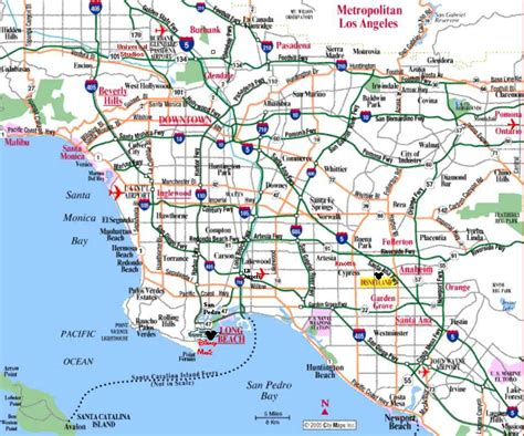 maps of los angeles