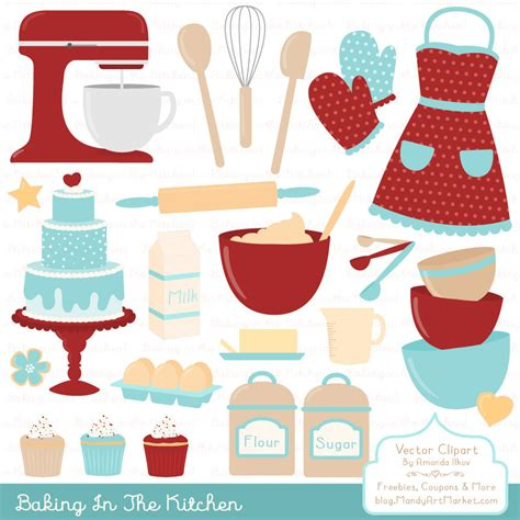 Professional Baking Clipart & Vectors in Red Robin