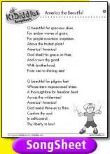 america beautiful song lyrics kididdles