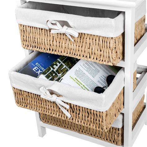 shabby chic storage baskets new shabby chic storage bedside table cabinet side table