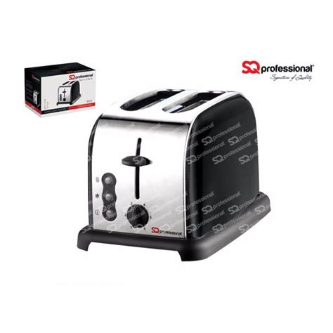 Professional Kitchen Accessories by Sq Professional Legacy 900w 2 Slice Toaster Black