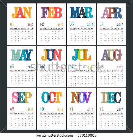 Calendar Of This Month Month Stock Images Royalty Free Images Vectors