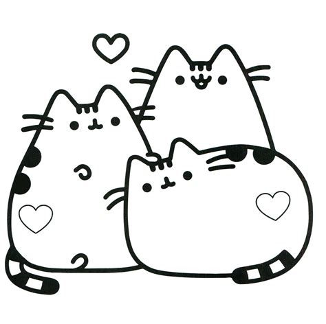 kawaii cat coloring pages pusheen coloring book pusheen pusheen the cat board
