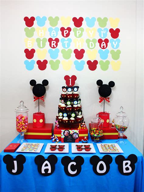 Mickey Mouse Birthday Decorations by Invitation Parlour Mickey Mouse Birthday