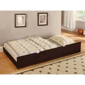 trundle bed with mattress included shop furniture of america omnus walnut trundle bed at