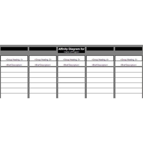 affinity diagram template free free affinity diagram template tips for using affinity