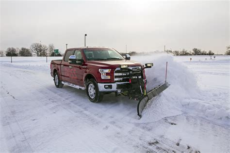 snow plow ford demonstrates its snow plow option for 2015 f 150 w carscoops