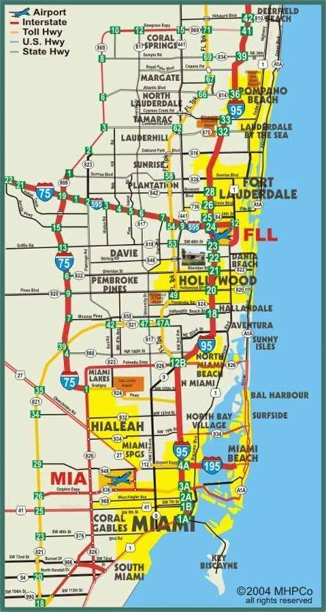 fort lauderdale map map of florida ft lauderdale area pictures to pin on pinsdaddy