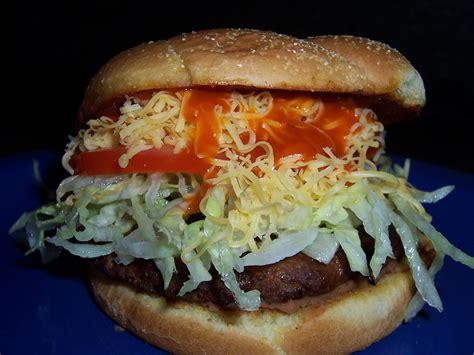 Backyard Burger Classic Burger Tasty Taco Burger One Stop Cook
