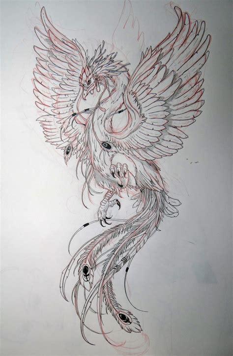 phoenix tattoo designs japanese seher one art design ilustraciones pinterest