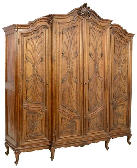 art nouveau armoire an italian art nouveau style walnut finish triple armoire fine furnishings