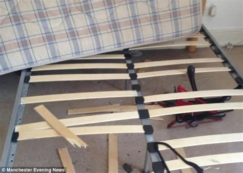 Broken Bed Frame Students Accused Of Trashing Property In Manchester By