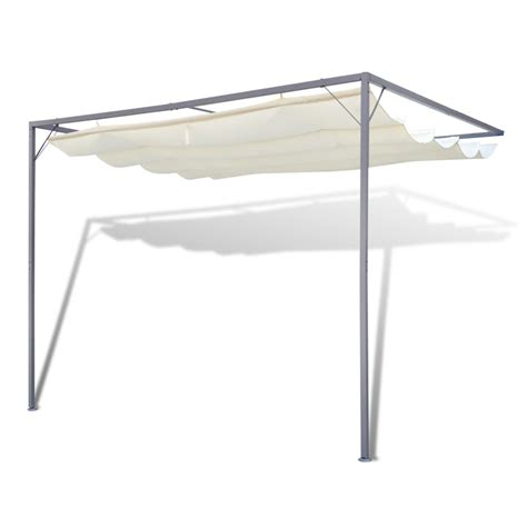 sunshade awning gazebo vidaxl garden patio awning sun shade canopy wall gazebo