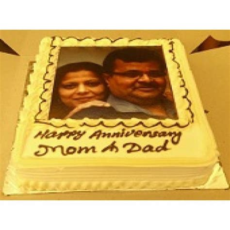 Wedding Anniversary Gift Delivery by Personalized Wedding Anniversary Cake