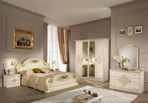 Chambre Meuble by Chambre Compl 232 Te Laqu 233 Beige Meuble Chambre Style