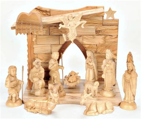 fontanini canada olive wood nativity set with box holy land treasures usa olive wood nativity set